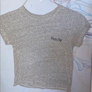 """""""Peachy"""" crop T shirt"""